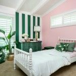 Chic Pink and Green Big Girl Room