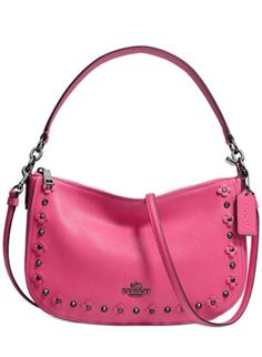 119.00$  Buy now - http://viwmf.justgood.pw/vig/item.php?t=254vdz3683 - Coach CHELSEA crossbody in floral rivets leather 37711