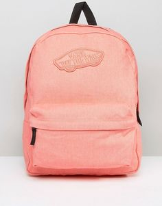 Vans Realm Backpack In Peach 100% polyester