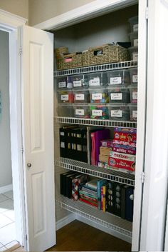 Organization website! This is a craft closet but there are SO many other great ideas!