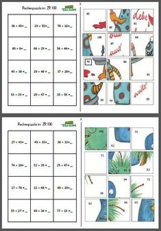 Maths Puzzles - addition and subtraction Maths Puzzles, Math Worksheets, Math Resources, Montessori Math, Homeschool Math, Math Stations, Math Centers, Math Games, Math Activities