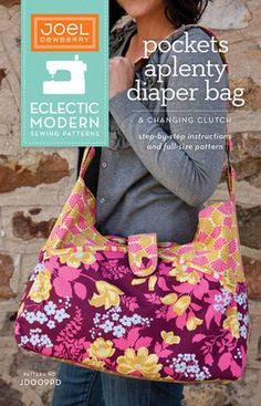 Pockets Aplenty Diaper Bag Sewing Pattern