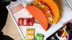 Taco Bell Fiery Doritos Locos Tacos