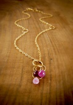 Ruby & Sapphire Necklace from Melissa Joy Manning - Pop-Up Shop | The You and Me Collective