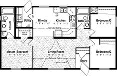 floor plan 25 x 40