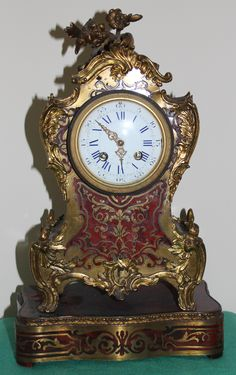 Antique Clocks | french boulle striking clock by r c a french boulle striking clock ...