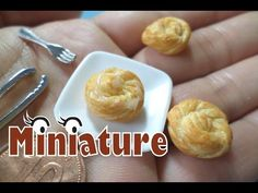 미니어쳐 빵 만들기/ miniature bread /ミニチュア パン - YouTube