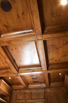 Pine coffer ceiling @ http://www.benjaminblackweldercabinetry.com