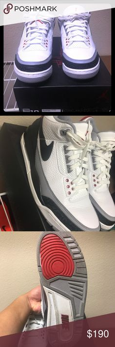 8007512b8352 Jordan Retro 3 Tinkers VNDS!! 🎉👀 9 10 condition! Only used