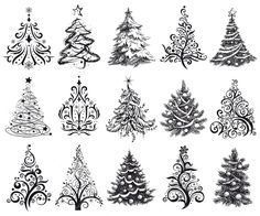 INSTANT DOWNLOAD 15 Hand Drawn Digital Christmas by DelightClipart