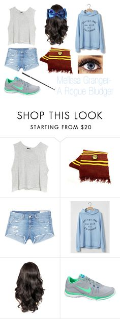 """""""Melissa Granger- A Rogue Bludger"""" by unitedbypotter ❤ liked on Polyvore featuring MINKPINK, rag & bone/JEAN, Gap and NIKE"""