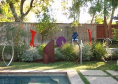 The entire modern sculpture collection is now available to view in person by appointment in our outdoor garden gallery in Los Angeles. Outdoor Sculpture, Modern Sculpture, Modern Garden Design, Modern Landscaping, Abstract Shapes, Yard Art, Art Decor, Art Pieces, Sculptures