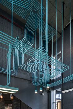 Hubba-to Coworking Space in Bangkok is seriously awesome. These conduits look like circuitry they are so perfectly aligned.  Design by Supermachine Studio Photography by Wison Tungthunya