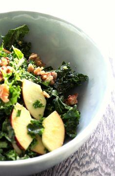 Kale, Apple and Walnut Salad #tenina #thermomix #recipe