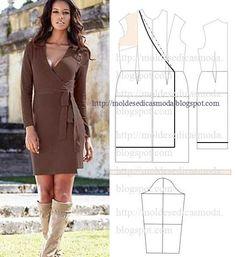 Depois de ter feito o seu molde base de vestido é fácil fazer qualquer um destes lindos e elegantes modelos. link:http://moldesedicasmoda.blogspot.pt/search/label/molde%20base%20vestido%20t-38%20%28b