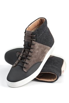 My new lust: #Thorocraft.  THE PORTER - SLATE. Suede, Leather, and Flannel.
