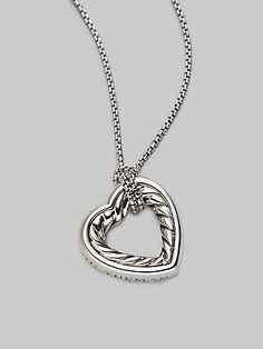 David Yurman Sterling Silver Open Heart Necklace. I would love to be able to buy this beautiful necklace for my mother.