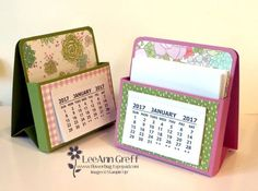 """Today I'm sharing the tutorial and templates for these cool Easel Note Boxes.   They are made with just one sheet of 8 1/2 X 11"""" card stock plus a few pieces of Designer Series Paper. Here I used the"""