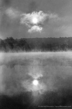 Harold Feinstein, Twin suns by Misty River's Edge, 1963