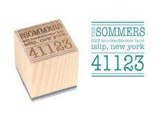 Big Zip Wood Block Rubber Stamp