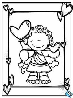 Pattern Coloring Pages, Cool Coloring Pages, Adult Coloring Pages, Coloring Pages For Kids, Coloring Sheets, Coloring Books, Valentine Coloring Pages, Preschool Art, Valentine Day Crafts