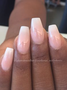 Nails coffin ombre, coffin nails square acrylic nails, french tip . Acrylic Nails Coffin Ombre, Coffin Nails 2018, Square Acrylic Nails, Manicure French, Ombre French Nails, Nail Manicure, Manicures, How To Do Nails, Fun Nails
