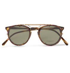 O'Malley D-Frame Tortoiseshell Acetate Optical Glasses with Clip-On UV Lenses | MR PORTER
