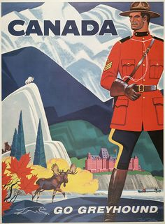 Canada 1950 Go Greyhound Vintage Poster Art Print Retro Style Canadian Travel Advertisement Free US Post Low EU post by CharmCityPosters on Etsy Poster Retro, Vintage Travel Posters, Vintage Advertisements, Vintage Ads, Vintage Stuff, Posters Canada, Party Vintage, Tourism Poster, Canadian Travel