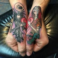 The Nightmare Before Christmas tattoos
