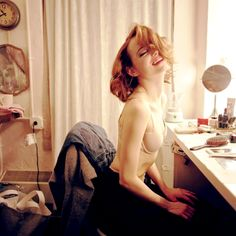 Emma Stone photographed by Chris Lowell while preparing for Cabaret (New York, 2015)