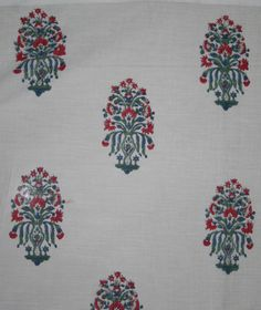 10 YARD, 20 YARD, 50 YARD, 100 YARD COTTON HAND BLOCK PRINT FLORAL CRAFT FABRIC #Unbranded