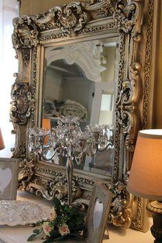 18 Modern Mirror Ideas >> For More Modern Mirror Decor Ideas Ornate Mirror, Vintage Mirrors, Mirror Mirror, Vintage French Decor, Victorian Mirror, French Mirror, Sunburst Mirror, Wall Mirrors, Mirror Ideas
