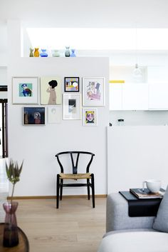 art wall with ledge