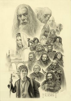 I just can't think...This is the best Hobbit/LOTR sketch I have ever seen, I am so inspired by this.