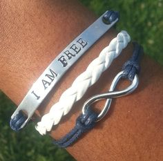 Affirmation Bracelet Infinity Bracelet I AM by BlumaAffirmations1, $8.99