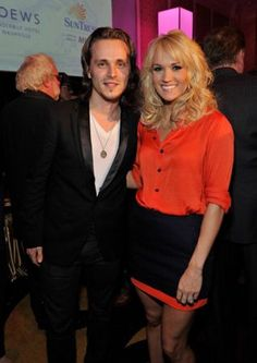 Jonathan Jackson and Carrie Underwood attend the Nashville GRAMMY Nominee Party at the Loews Vanderbilt Hotel on January 22, 2013 in Nashville, Tennessee.