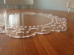 Crystal Clear Laser Cut Acrylic Doily Table Centerpiece