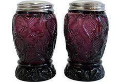 Amethyst Sugar Casters, Pair on OneKingsLane.com