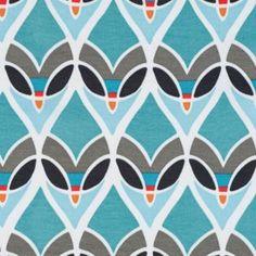 """montauk"" outdoor fabric aqua turquoise teal"