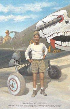 P-40 at BURMA. Cool idea for nose art and those exhaust pipes...