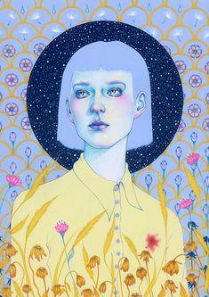 Natalie Foss - New Blood Portrait Illustration, Graphic Illustration, Illustrations, Graphic Design Posters, Graphic Art, Posca Art, Guache, Design Graphique, Portrait Art
