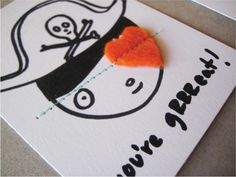 cool pirate Valentines Day card - turn this into a birthday invite?