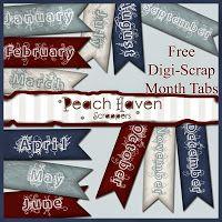 Peach Haven Scrappers: Freebies