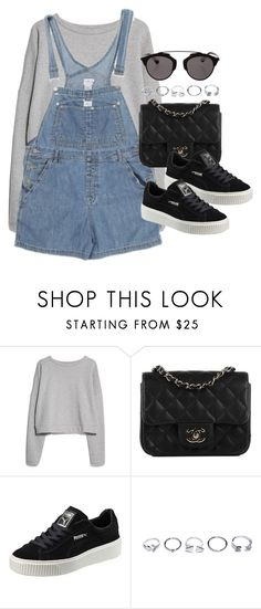 """""""Sin título #12267"""" by vany-alvarado ❤ liked on Polyvore featuring MANGO, Calvin Klein, Chanel, Puma, GUESS and Christian Dior"""