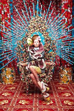 Whoa. Too many colors, but love the throne idea and all the crazy detail! -Sarah