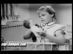 "Betsy wetsy doll commercial. ""You can be a mommy too."" #dolls #kids #vintage"