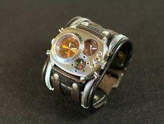 Bracelet en cuir pour hommes poignet montre « Highlander-2 ».  Équipement technique - pointe de la Cold steel, vêtu de cendres en cuir - décoration