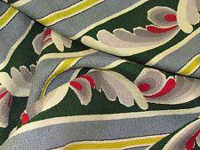 MCM Art Deco Ocean Drive Chartreuse & Spruce VTG Barkcloth Fabric Curtain Drape