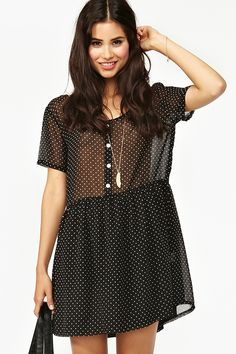 Dotted Chiffon Dress
