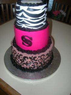 sweet 16 zebra cake    Flour Power Cafe & Bakery San Antonio